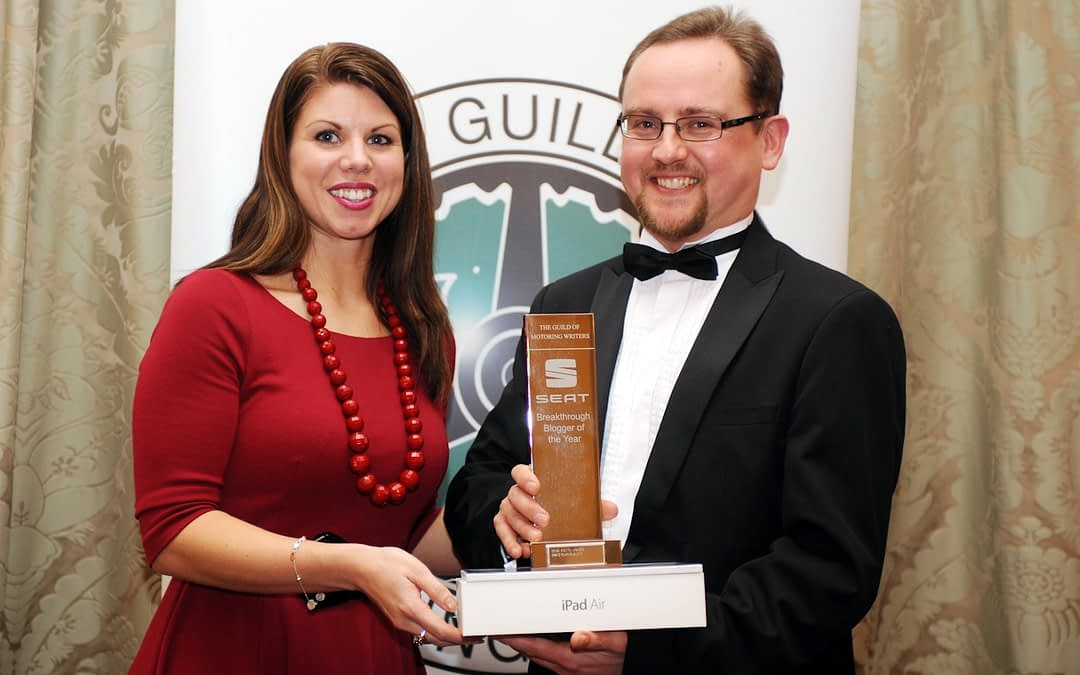 Chris Auty Wins SEAT Breakthrough Blogger At GoMW Awards 2013