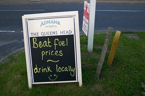 Beat Fuel Prices, Drink Locally