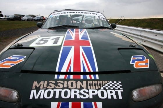 Mission Motorsport at Blyton Park