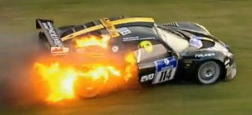 Roger Green Nurburgring Fire