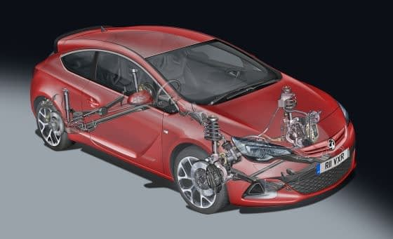 Vauxhall Astra VXR 2012 Chassis