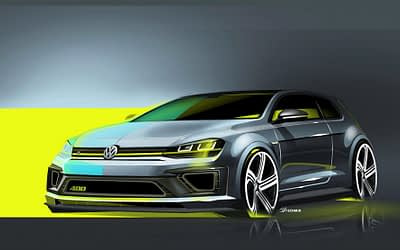 400PS Golf R Concept Sketched